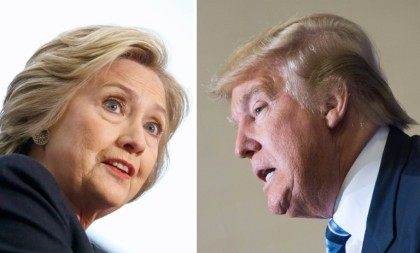 Democratic presidential candidate Hillary Clinton (L) and Republican challenger Donald Trump are both among those named to the world's 100 most influential people by Time magazine