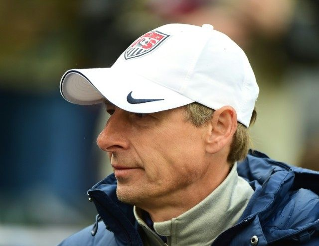 United States manager Jurgen Klinsmann of the United States, pictured on January 31, 2016, denies reports suggesting he was being lined up to take over at Everton