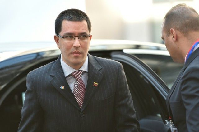 Vice President of Venezuela Jorge Arreaza arrives to attend the second day of a European Union and the Community of Latin America and Caribbean states summit on June 11, 2015 in Brussels