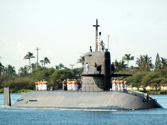 Japanese submarine Oyashio, seen during its visit to Hawaii in 2006