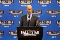 NBA Commissioner Adam Silver speaks during a press conference on February 13, 2016 in Toronto, Canada