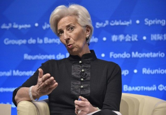 IMF Managing Director Christine Lagarde, pictured on April 17, 2016, said developing countries are the main victims of legal financial techniques that deprive them of vital funds