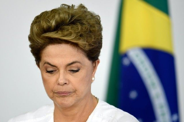 "Brazilian President Dilma Rousseff (pictured) has accused her vice president, Michel Temer, and the house speaker of ""treachery"" and coup-plotting"