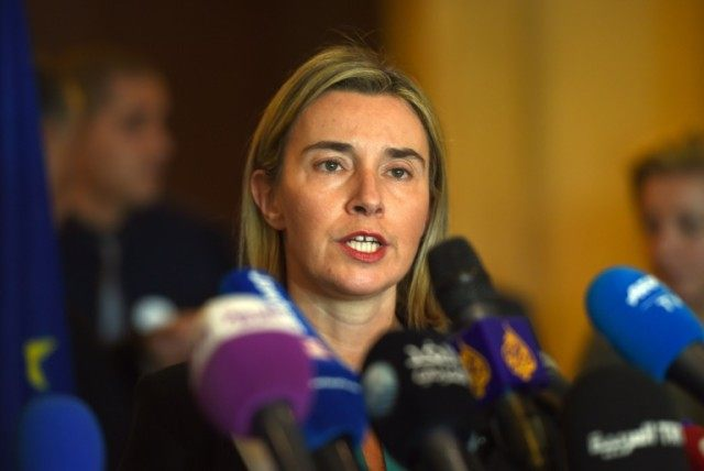 EU foreign policy chief Federica Mogherini was due to meet Iranian Foreign Minister Mohammad Javad Zarif during her trip to Iran