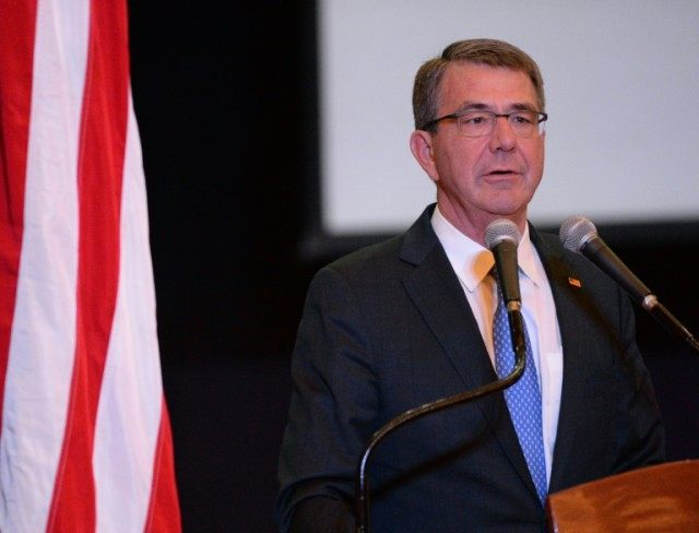 US Defense Secretary Ashton Carter will hold talks with regional leaders including Saudi King Salman and Abu Dhabi's Crown Prince Sheikh Mohammed bin Zayed Al-Nahyan