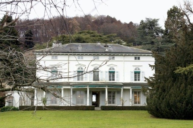 The Manoir de Ban, last residence of famed actor, composer and movie director Charlie Chaplin, in Corsier-sur-Vevey, Switzerland