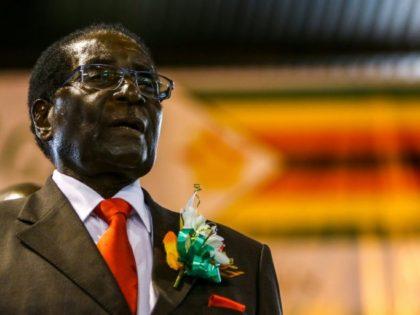 Zimbabwe President Robert Mugabe attends a meeting with the Zimbabwe National Liberation War Veterans Associatioin on April 7, 2016 in Harare