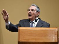 Cuban President Raul Castro pictured during a press conference with US President Barack Obama (out of frame) at the Revolution Palace in Havana on March 21, 2016