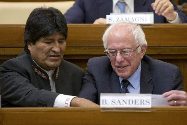 Bernie Sanders, Evo Morales