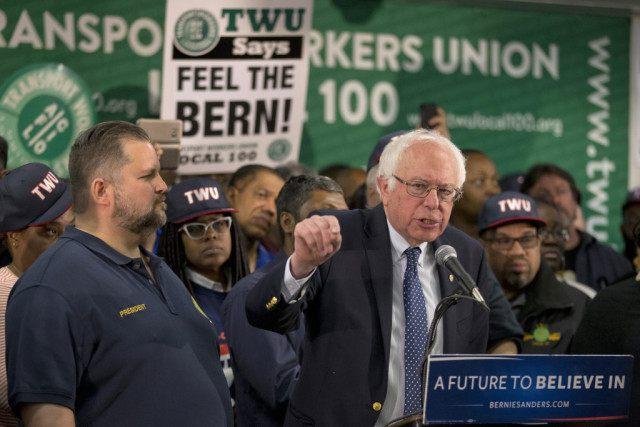 Bernie Sanders, John Samuelsen