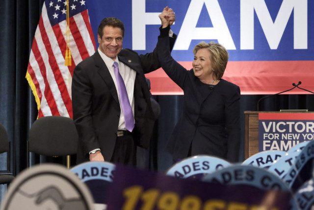 Hillary Clinton, Andrew Cuomo