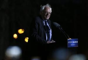 Bernie Sanders disavows supporter's 'inappropriate' remark at N.Y.C rally