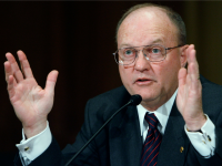 Lawrence Wilkerson, former chief of staff to Secretary of State Colin Powell and co-chairman of the U.S.-Cuba 21st Century Policy Initiative at the New America Foundation, testifies before the Senate Finance Committee during a hearing about the Cuba trade embargo on Capitol Hill December 11, 2007 in Washington, DC.