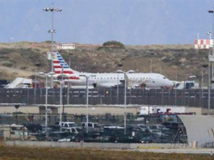 AA Flight from Houston - AP Damian Dovarganes