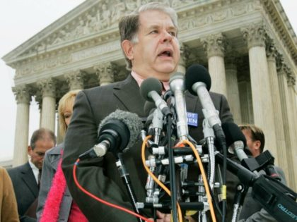 Leroy Carhart meets reporters outside the Supreme Court in Washington, Wednesday, Nov. 8, 2008 after a hearing on a partial-birth abortion case.
