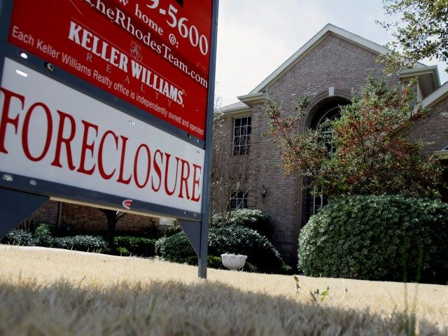 A foreclosed home is seen for sale, Thursday, March 5, 2009, in Frisco, Texas. (AP Photo/Matt Slocum)