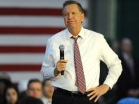 Republican presidential candidate, Ohio Gov. John Kasich speaks during a campaign event at the Mohawk Valley Community College on Friday, April 15, 2016, in Utica, N.Y. (AP Photo/Hans Pennink)