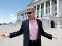 "In this May 18, 2016 file photo, Libertarian presidential candidate, former New Mexico Gov. Gary Johnson leaves the Utah State Capitol after meeting with with legislators, in Salt Lake City. He has virtually no money, no strategy to compete in battleground states and no plan to stop talking about his drug use. Yet with the Republican Party facing the prospect of a Donald Trump presidency, Libertarian presidential hopeful Gary Johnson could be a factor in 2016. The former two-term New Mexico governor, a Republican businessman perhaps best known for his years-long push to legalize marijuana, has a sobering message for a ""never-Trump"" movement desperately seeking a viable alternative."