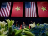President Barack Obama speaks at the National Convention Center in Hanoi, Vietnam, Tuesday, May 24, 2016.