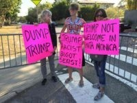 Anti-Donald Trump protest in Santa Monica (Joel Pollak / Breitbart News)