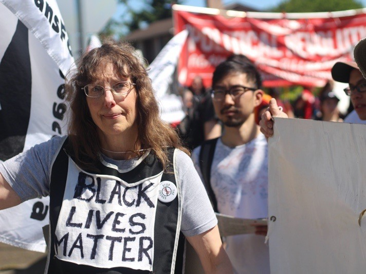 Black Lives Matter at Seattle May Day (Lee Stranahan / Breitbart News)