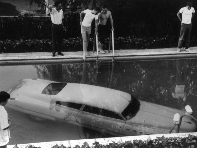 Car in Pool (Keystone / Getty)