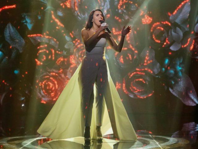 r singer Susana Jamaladinova, known as Jamala, performs during the Ukrainian national qualification for the Eurovision Song Contest outside Kiev, Ukraine, February 21, 2016. REUTERS/VALENTYN OGIRENKO