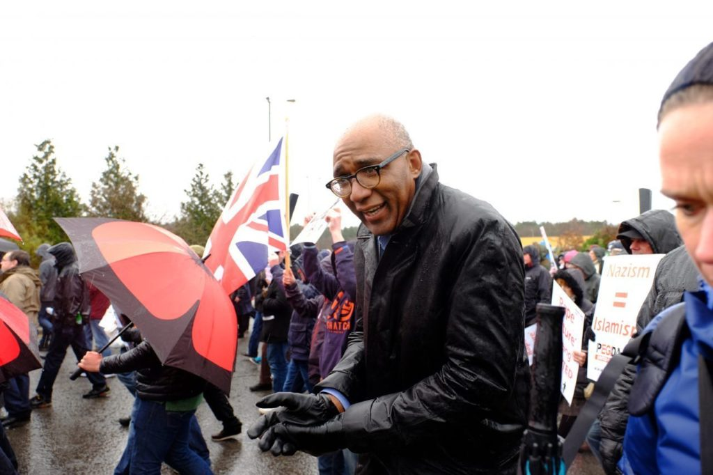 Trevor Philips at the PEGIDA UK walk in Birmingham, February 6th 2016
