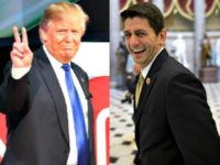 Donald Trump, Paul Ryan Walking AP Photos