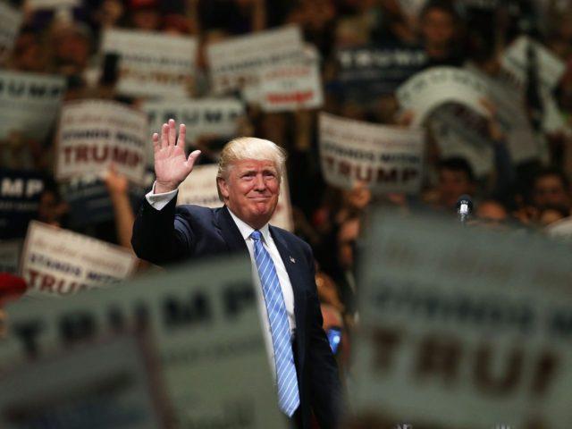 Donald Trump in Anaheim (Spencer Platt / Getty)
