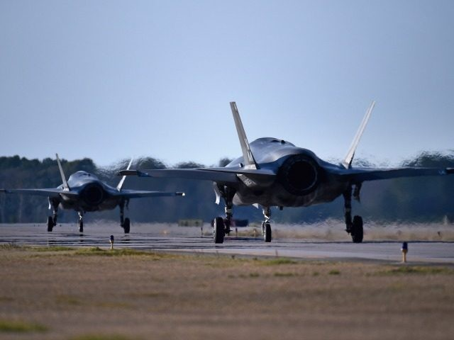 F-35 at MCAS Beaufort on March 7, 2016 in Beaufort, North Carolina.