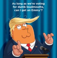 'Family Guy' Slams 'Dumb Loudmouth' Donald Trump in Emmy Mailer