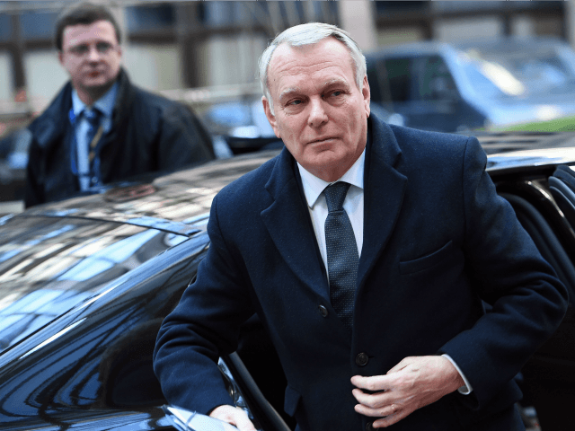 French Foreign Minister Jean-Marc Ayrault arrives to attend an EU foreign affairs council at the European Council, in Brussels, on February 15, 2016.