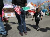 Mexican and American flags are proudly worn at a Cinco de Mayo festival on May 4, 2013 in Denver, Colorado.