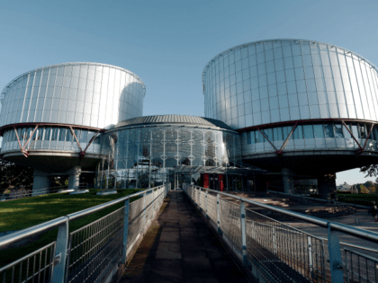 The European Court of Human Rights (ECHR) is seen during a hearing concerning the terrorist attack on a school in Beslan, North Ossetia (Russia), in September 2004, on October 14, 2014 in Strasbourg, eastern France. More than 330 hostages had been killed during the attack by pro-Chechen rebels, 186 of …