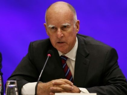 Gov. Jerry Brown of California September 22, 2015 in Seattle, WA.