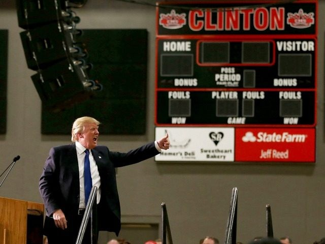 Republican presidential candidate Donald Trump on January 30, 2016 in Clinton, Iowa.