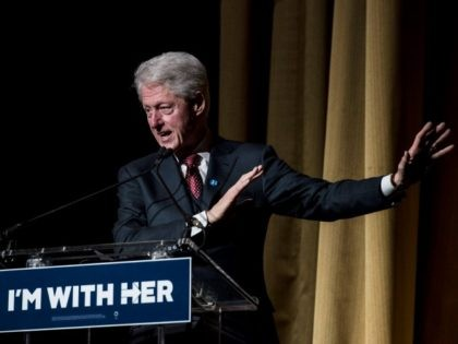 Former President Bill Clinton speaks at a fundraiser for his wife, Democratic presidential candidate Hillary Clinton, during a fundraiser at Radio City Music Hall on March 2, 2016 in New York City.