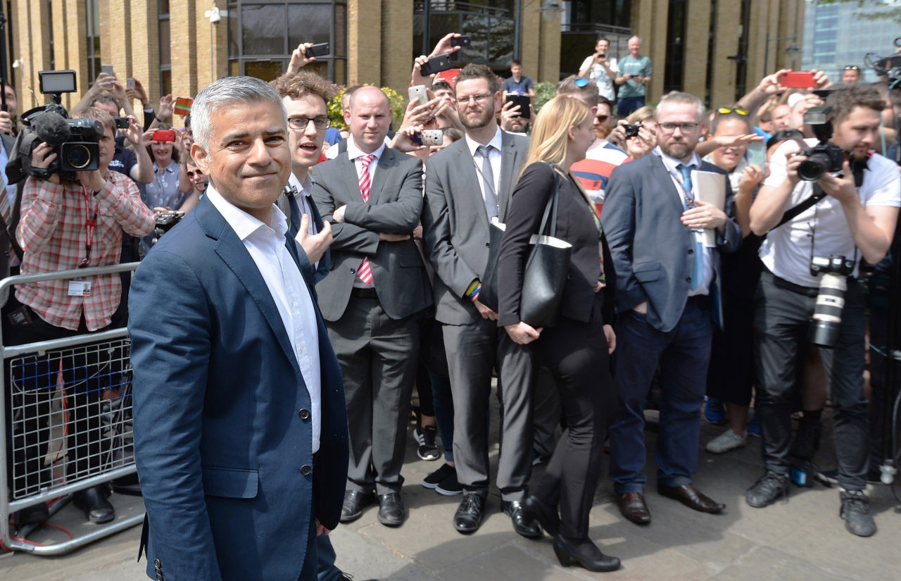 LONDON, ENGLAND - MAY 07:  Newly elected Mayor of London Sadiq Khan after his signing ceremony Southwark Cathedral on May 7, 2016 in London, England.  Khan, the Labour MP for Tooting, will be sworn in as Mayor of London at a multi-faith service at Southwark Cathedral today. After months of campaigning Mr Khan won the London mayoral race with 56.8 percent of the vote beating Conservative Party candidate Zac Goldsmith into second place.  (Photo by John Stillwell - WPA Pool /Getty Images)