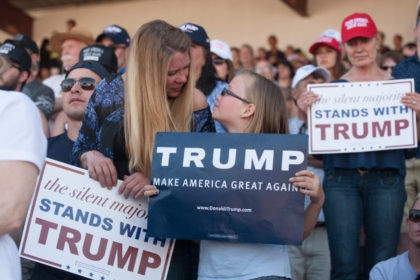 Supporters at Donald Trump rally on May 7, 2016 in Lynden, Washington.