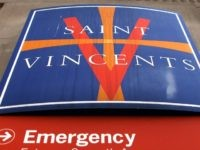 A sign for St. Vincent's Hospital on April 7, 2010 in New York City.