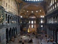 A general view inside the Haghia Sofia (Aya Sofya) on February 23, 2012 in Istanbul, Turkey.
