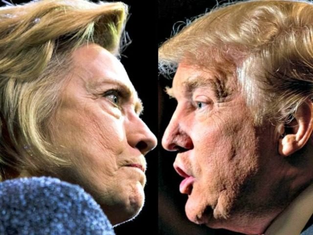 Hillary Clinton and Donald Trump Face Off AP Photos