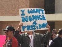 Hillary Clinton protest (Daniel Nussbaum / Breitbart News)