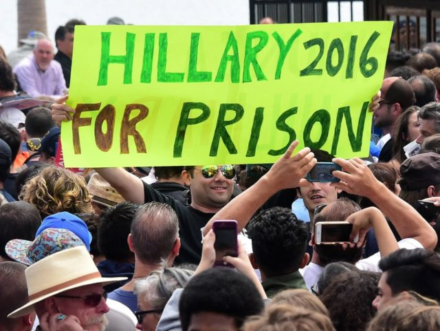 Hillary for Prison (Mark Ralston / AFP / Getty)