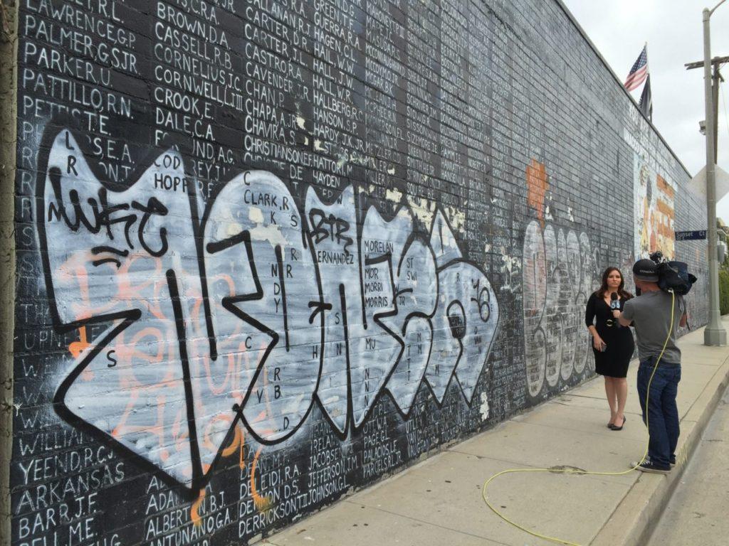 Vietnam memorial defaced (Joel Pollak / Breitbart News)