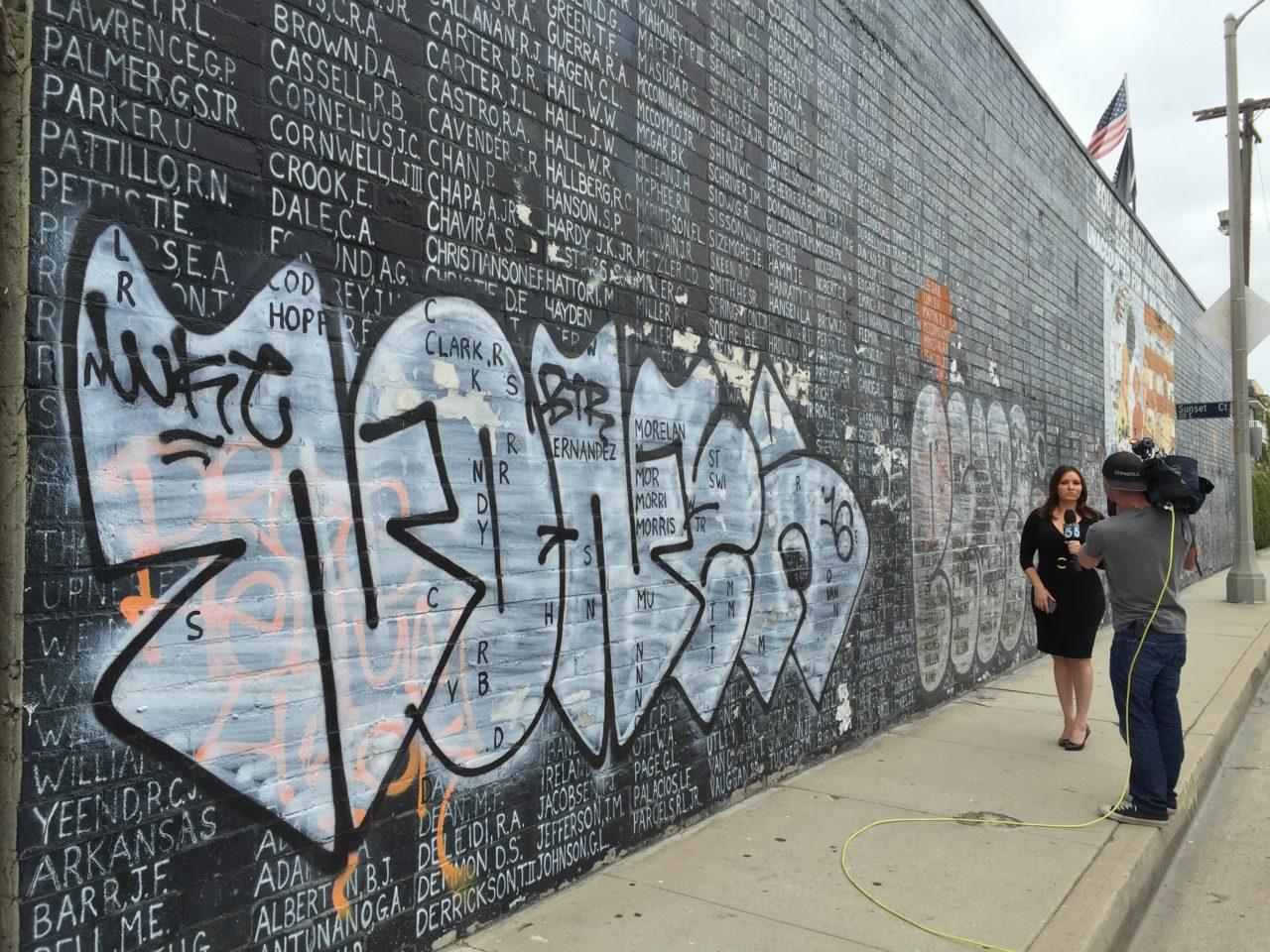 Star Wars Wall Mural Veteran Pleads For Help In Restoring L A Vietnam Memorial