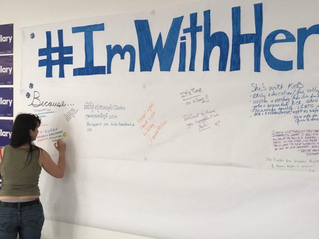 #ImWithHer (Daniel Nussbaum / Breitbart News)
