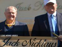 Jack Nicklaus and Donald Trump CBS News