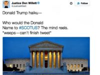 Justice Willitt Trump Tweet